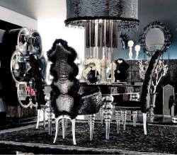 Гостиная CHIC total black AltaModa - итальянская мебель для гостиной