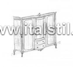 Шкаф с 3-я створками и 2-я ящиками (Art.1203/B)