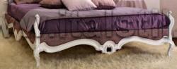 Рама кровати с резьбой и обивкой тканью Sati S 2750-1233 сщдю 70-2800-45 (Art. 1253-King) - Living