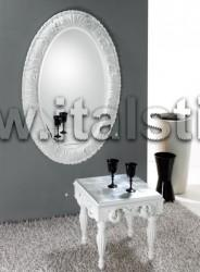 Итальянское зеркало OVALE/2 bianco