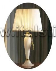 Настольная лампа Murano bianco oro  - итальянские предметы мебели для интерьера