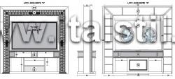 Стойка вращающаяся с камеей для домашнего кинотеатра ART DECO - отделка рамы - Oro/Argento foglia+nero/crema/bianco